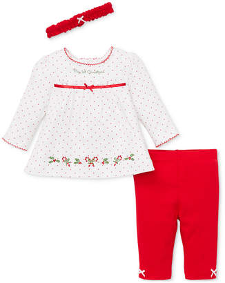 Little Me Baby Girls 3-Pc. Headband, Printed Tunic & Leggings Set