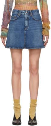 Acne Studios Blue Bla Konst Denim Miniskirt