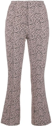 Schumacher Dorothee printed slim cropped trousers