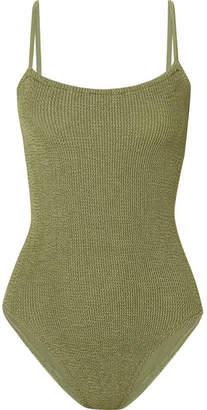 Hunza G - Seersucker Swimsuit - Dark green