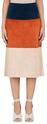 Derek Lam Women's Colorblocked Leather Skirt $2,850 thestylecure.com