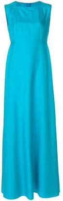 Talbot Runhof flared sleeveless gown