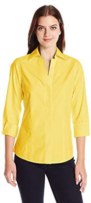 Foxcroft Women's 3/4 Sleeve Taylor Essential Non Iron Shirt