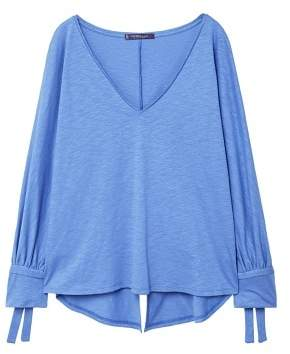 Violeta BY MANGO Bows sleeve t-shirt