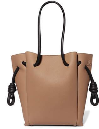 Loewe Flamenco Small Textured-leather Tote - Tan