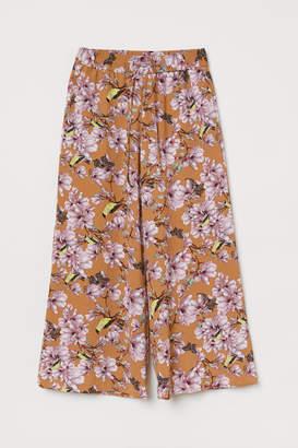 H&M Wide-leg Pants - Beige