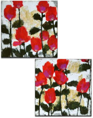 "Ready2hangart 'Meadow I/II' 2 Piece Floral Canvas Wall Art Set, 30x30"""
