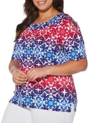 Rafaella Plus Multi Tie-Dye Blouse