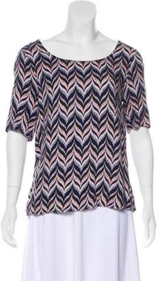 Ella Moss Chevron Cutout Top