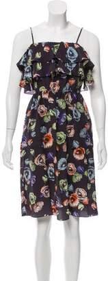 Rebecca Taylor Silk Printed Knee-Length Dress