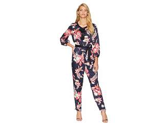 Juicy Couture Hidden Cove Floral Lace-Up Jumpsuit Women's Jumpsuit & Rompers One Piece