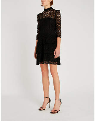 Claudie Pierlot High-neck floral lace dress