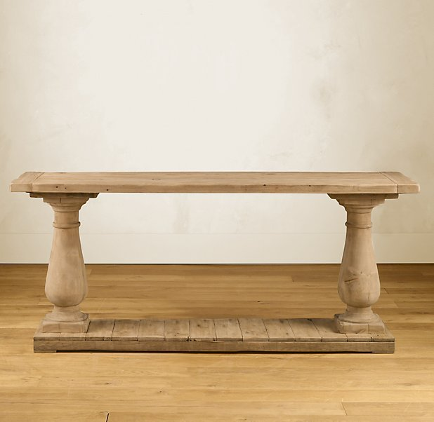Balustrade Salvaged Wood Console Table - 71