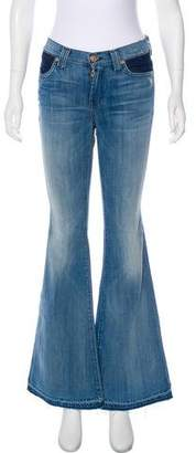 7 For All Mankind Flared Mid-Rise Jeans