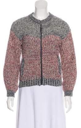 Etoile Isabel Marant Rib Knit Crew Neck Cardigan