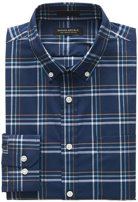 Banana Republic Slim-Fit Tech-Stretch Cotton Plaid Shirt