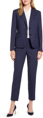 Anne Klein Nested Pinstripe Suit