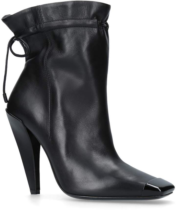 TOM FORD Gather Ankle Boots 105, Black, IT 39