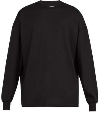 Blend of America 1017 Alyx 9sm - Recycled Motif Cotton Long Sleeved T Shirt - Mens - Black