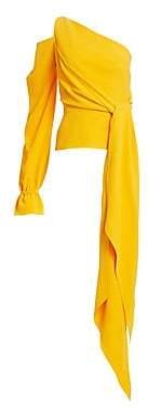 Roland Mouret Women's Vero Ruffled One-Shoulder Top
