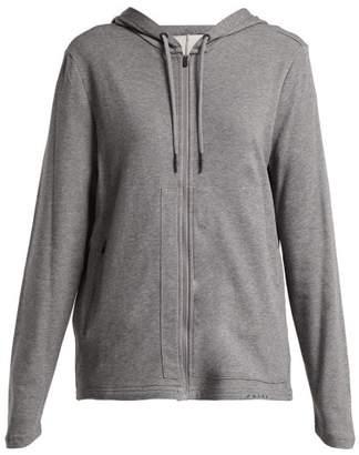 Falke Zip Front Hooded Sweatshirt - Womens - Grey