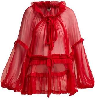 Lee Mathews - Blubelle Silk Georgette Blouse - Womens - Pink
