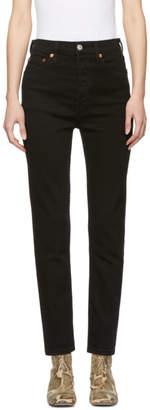 RE/DONE Black Originals High-Rise Ankle Crop Jeans