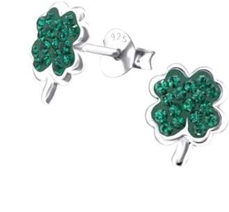 8a47a8866 Lucy Loves Neko Lucky Four Leaf Clover Crystal Earrings