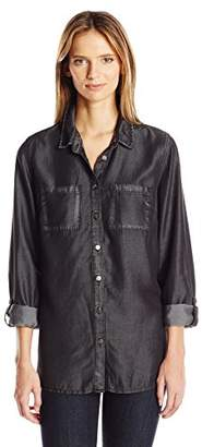 KUT from the Kloth Women's Alexa Hi-Lo Long Sleeve Button Down