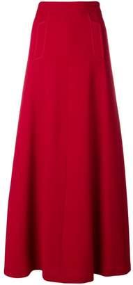 P.A.R.O.S.H. high-waisted flared skirt
