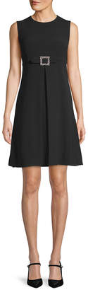 Dolce & Gabbana Jewel Belt Buckle Shift Dress