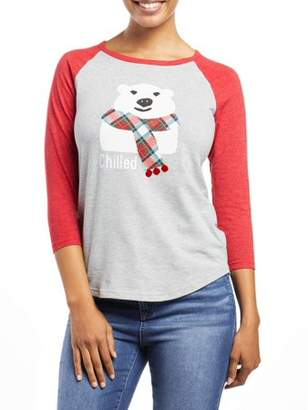 "EV1 from Ellen DeGeneres Women's ""Chilled"" Baseball Tee"