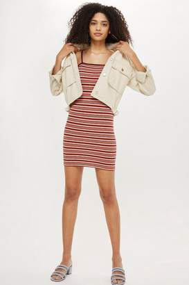 Topshop PETITE Striped Bodycon Mini Dress