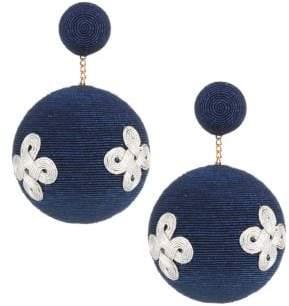 Pandora Rebecca de Ravenel Rebecca de Ravenel Knot Drop Earrings - Navy Silver