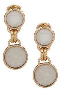 Lauren Ralph Lauren Goldtone Clip-On Drop Earrings