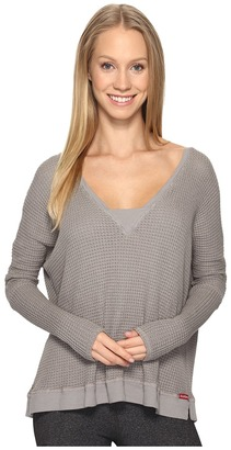 Hard Tail - Long Sleeve V-Neck Sweatshirt Women's Sweatshirt $98 thestylecure.com