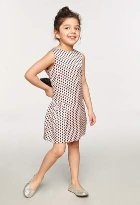 Milly Minis MillyMilly Dots Print Bow Party Dress