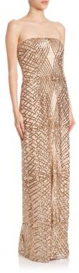 Laundry by Shelli Segal PLATINUM Strapless Sequined Gown $625 thestylecure.com