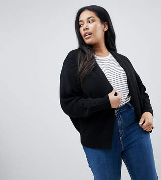 Asos DESIGN Curve eco chunky cardigan with volume sleeve