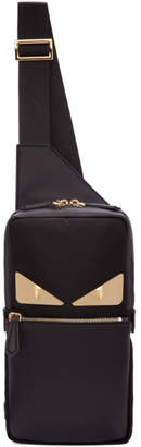 Fendi Black Bag Bugs Single-Strap Backpack