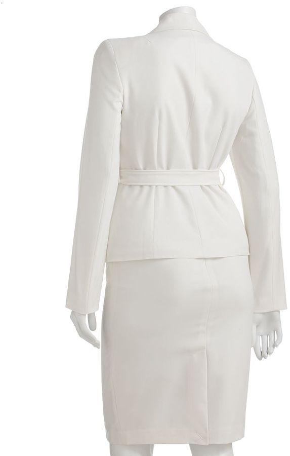 Larry Levine Signature by solid suit jacket & pencil skirt set - women's