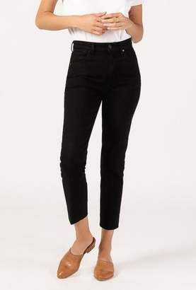 Gold Sign Refit Hi Rise Crease Crop Jean
