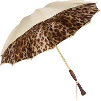 Persolé Cream Leopard UV Parasol Umbrella