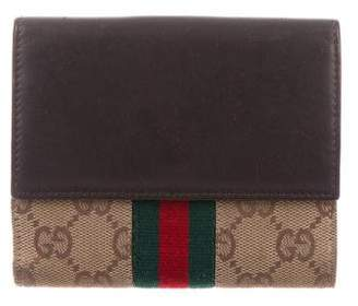 Gucci GG Web Compact Wallet