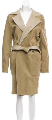 Michael Kors Reversible Leather Coat