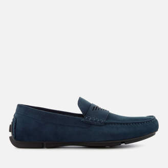 Emporio Armani Men's Suede Loafers - Midnight