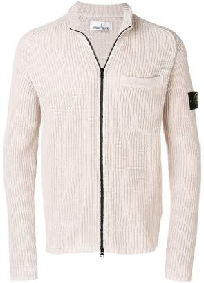 Stone Island ribbed knit cardigan