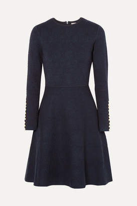 Lela Rose Jacquard Dress - Navy