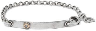 Peyote Bird Sterling Silver, 14-Karat Gold And Diamond Bracelet