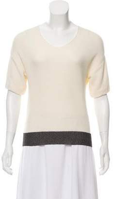 Cédric Charlier Short Sleeve Knit Sweater